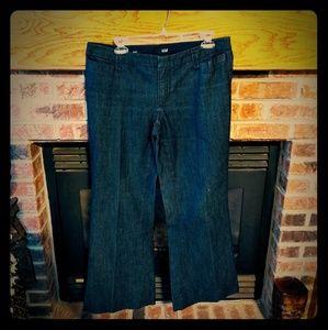 Anna brand dressy wide leg jeans women's size 10